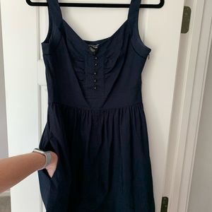 Navy Summer Dress, with pockets!!